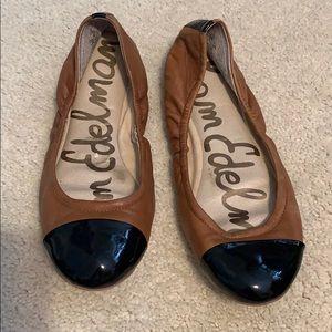 Sam Edelman Cap toe flats leather